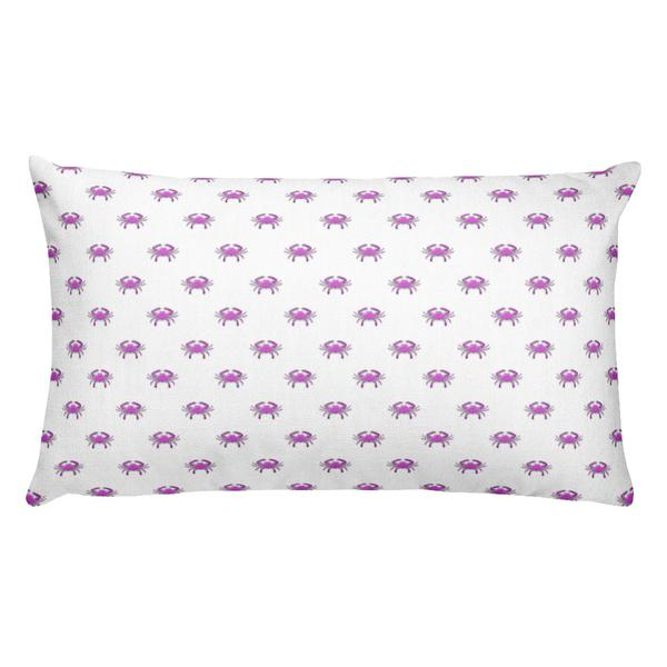 Pink Crab Rectangular Pillow - Maryland O Mine