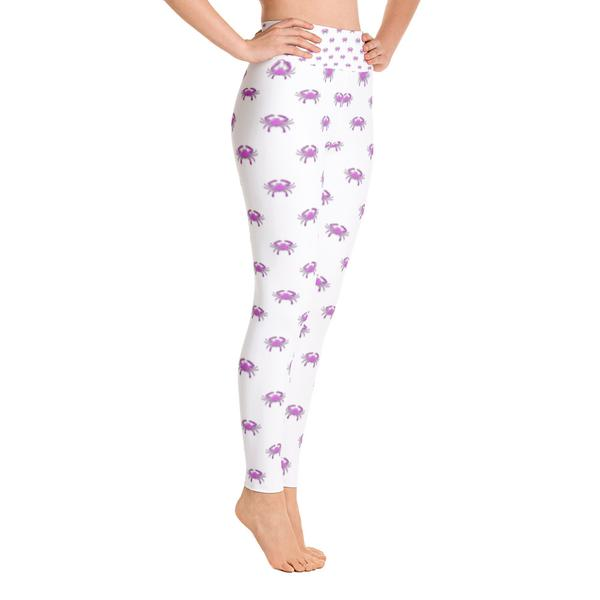 Pink Crab Yoga Leggings - Maryland O Mine