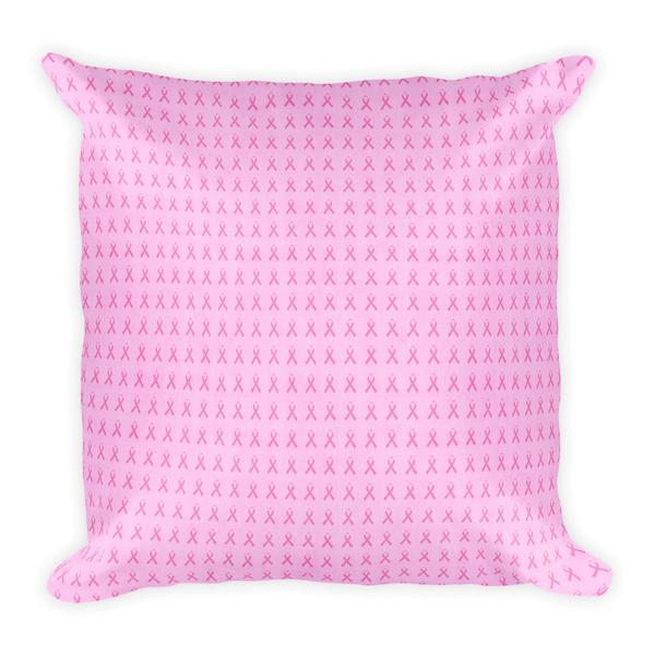 Pink Ribbon Square Pillow - Maryland O Mine