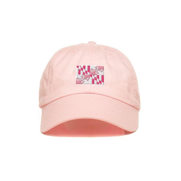 Pink Maryland Flag Hat - Maryland O Mine
