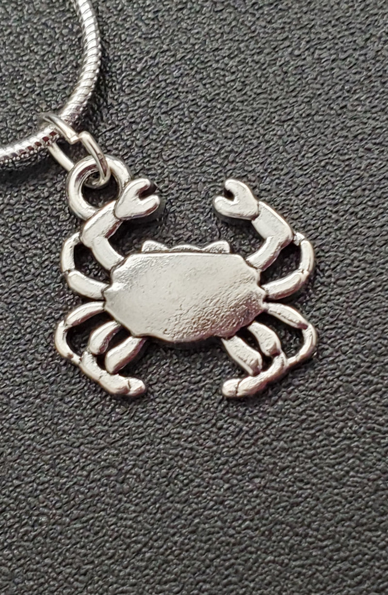 Silver Crab Necklace - Charm - Maryland O Mine