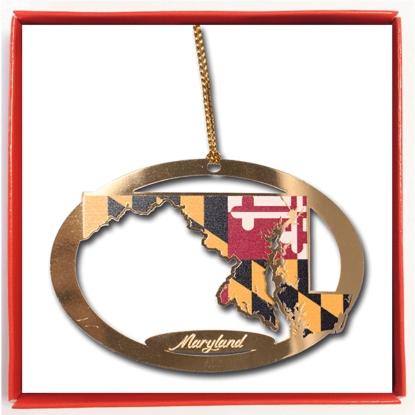 State of Maryland Ornament - Maryland O Mine