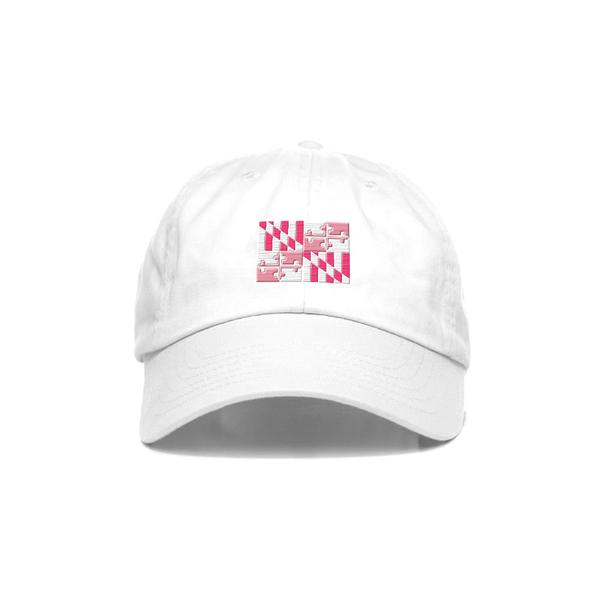 White Maryland Flag Hat - Maryland O Mine