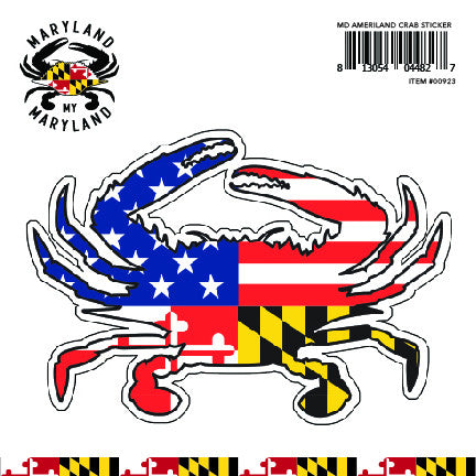 Ameriland Crab Decal Sticker - Maryland O Mine