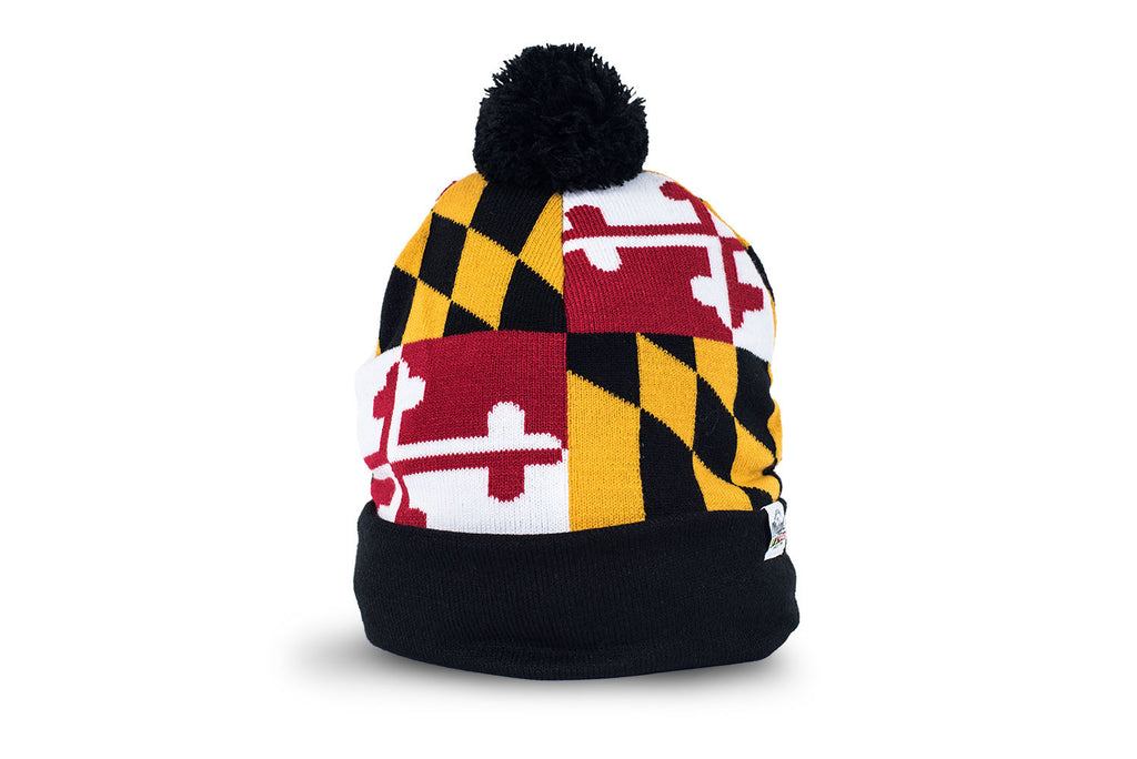 Maryland Large Flag Pom Beanie | Maryland O Mine