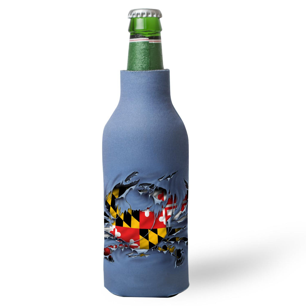 Maryland Ripped Crab Bottle Hugger - Maryland O Mine