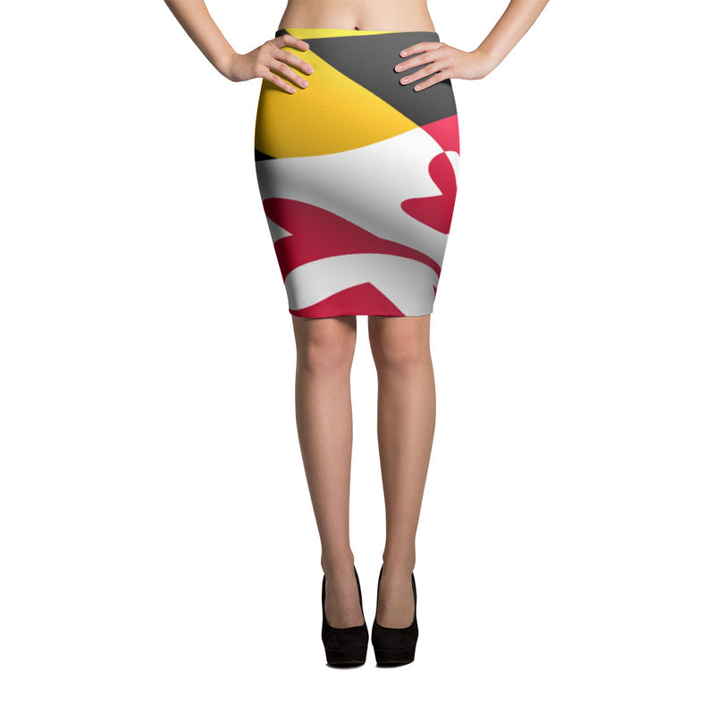 Maryland Flag Pencil Skirt
