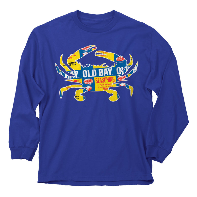 OLD BAY® Can Pattern Crab Long Sleeve - Maryland O Mine