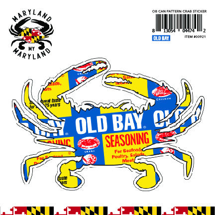 OLD BAY® Can Pattern Crab Decal Sticker - Maryland O Mine