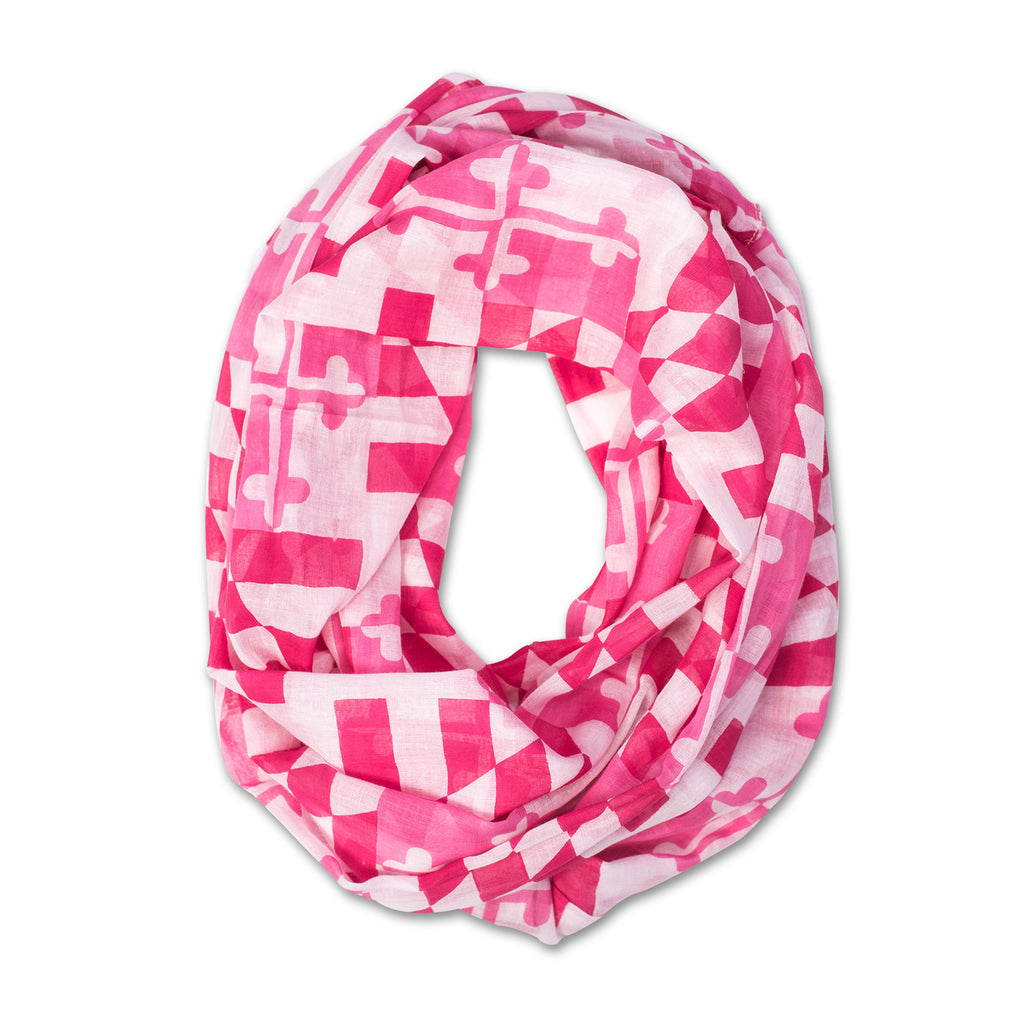 Pink Maryland Flag Infinity Scarf - Maryland O Mine
