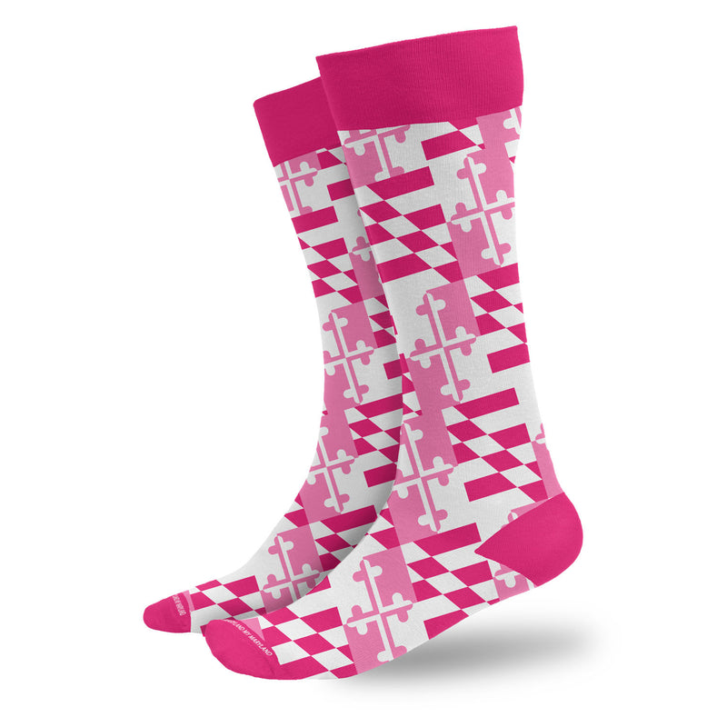 Pink Maryland Flag Socks - Maryland O Mine