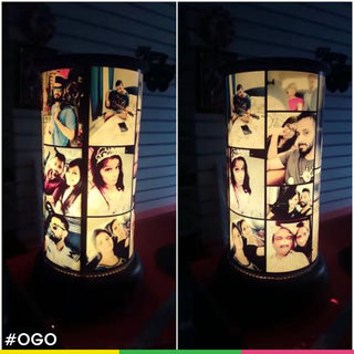 Handmade Rotating Photo Lamp