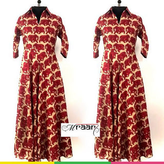 MRAAR Elephant print Maxi gown/Maxi dress