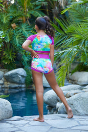 Two Piece Tie Dye Girls Dancewear Performance Outfit