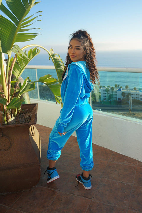 Crushing It Velvet Jogger - Teen - Kandi Kouture