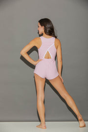 Sporty Shorty Romper Heather-Bubble Gum Pink-Women