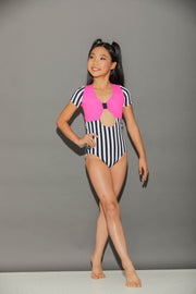 Xanadu Stripes Leotard - Girls