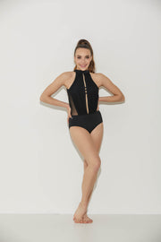 Eye Kandi Remix Leotard Black-Women