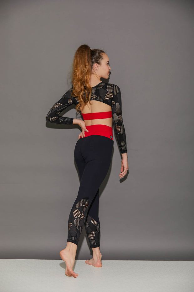 Honeycomb Athletic Legging - Women