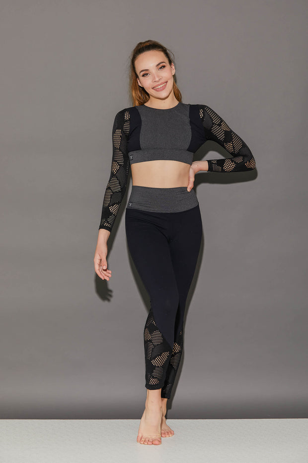Honeycomb Athletic Crop Top - Women