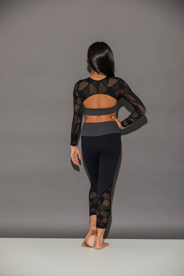 Honeycomb Athletic Crop Top - Girls