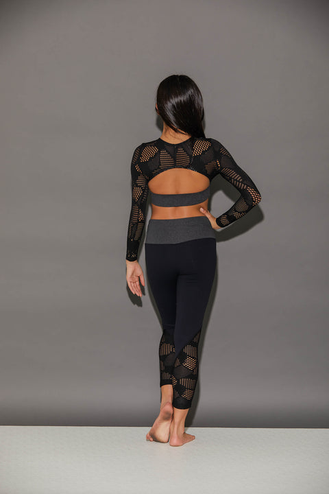 Honeycomb Athletic Legging - Girls