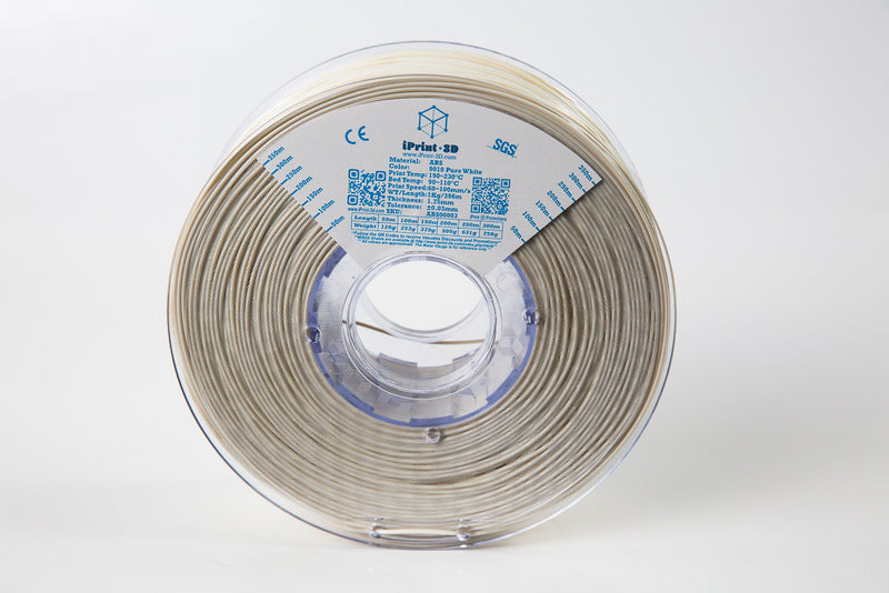 Pure White 9010 ABS Premium 3D Filament