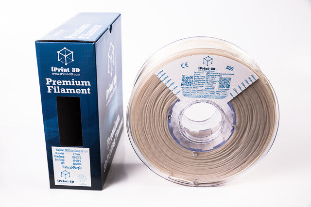 Colour Change by Light Natural to Purple ABS Premium 3D Filament