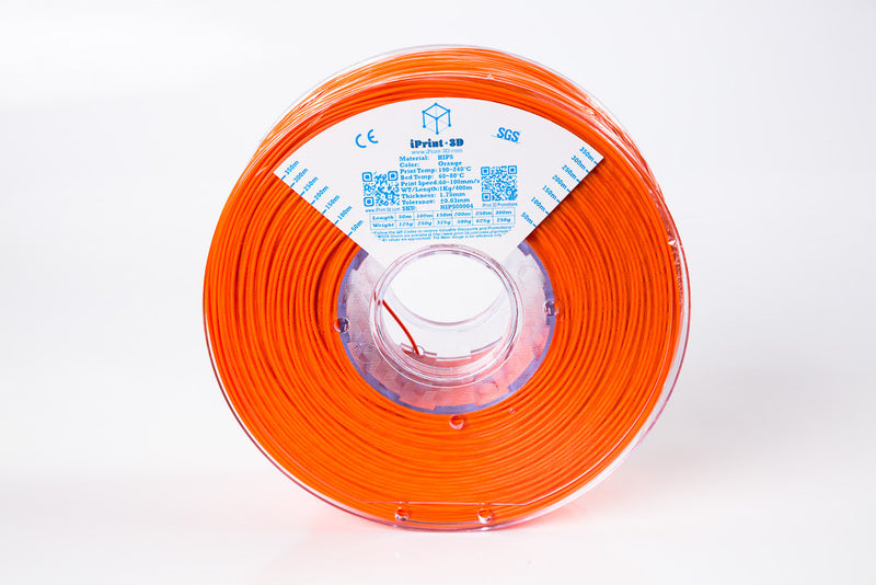 Orange HIPS Premium 3D Filament