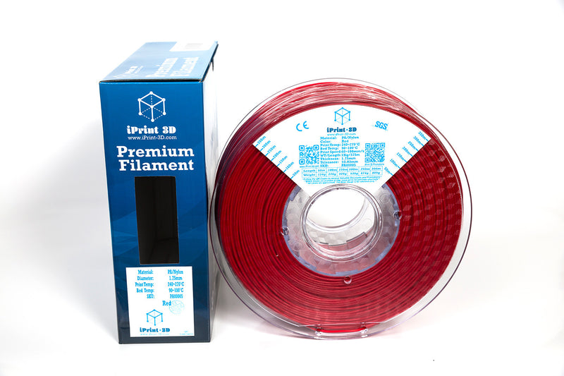 Red PA Nylon Premium 3D Printing Filament