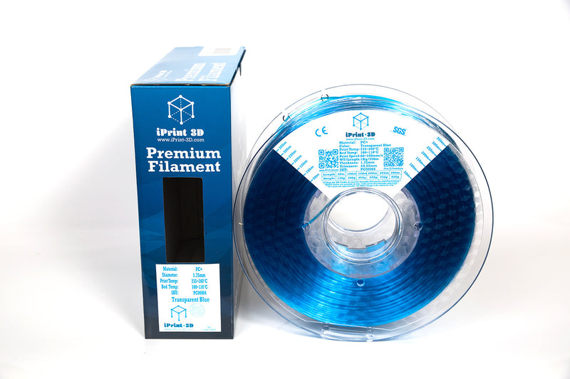 Transparent Blue PC+ Premium 3D Printing Filament