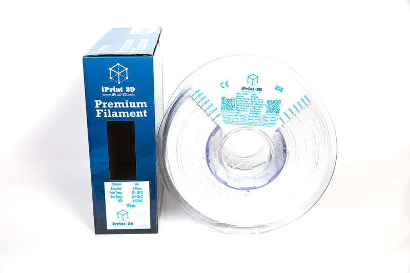 White PC+ Premium 3D Printing Filament