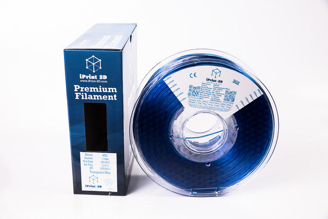 Transparent Blue Premium PETG 3D Filament