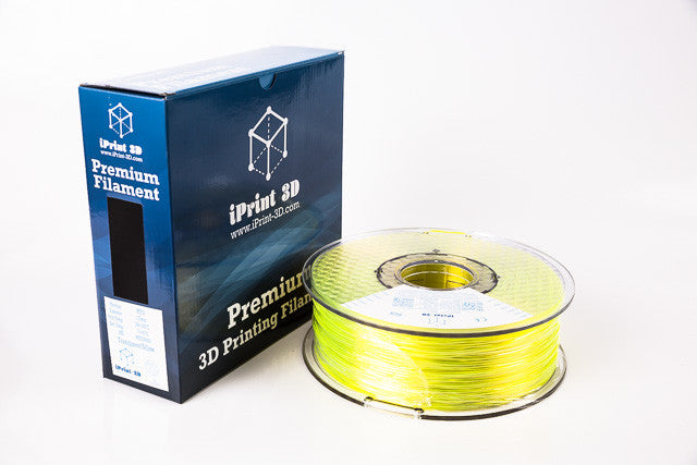 Transparent Yellow PETG Premium 3D Filament
