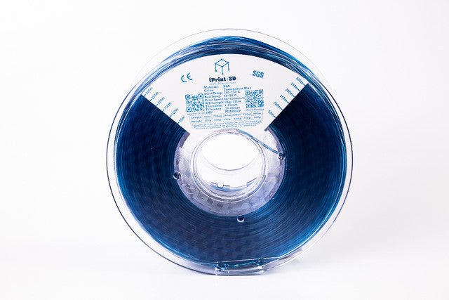 Transparent Blue PLA Premium 3D Filament