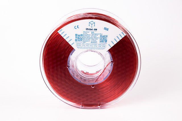Transparent Red PLA Premium 3D Filament