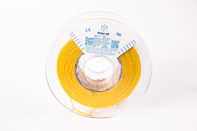 Dark Yellow TPE Flexible Premium 3D Filament