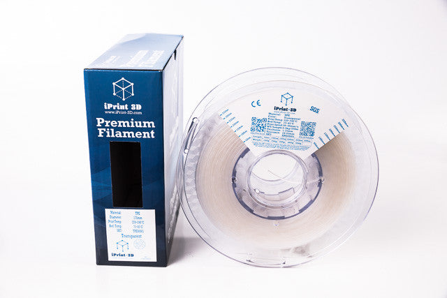 Transparent TPE Flexible Premium 3D Filament