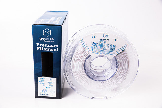 White TPE Flexible 3D Premium Filament