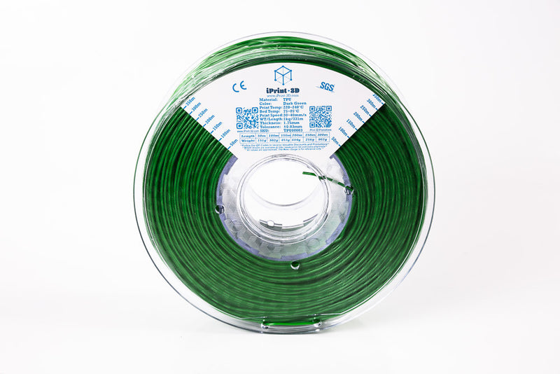 Dark Green TPU Flexible Premium 3D Filament