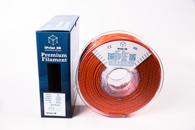 Dark Orange TPU Flexible Premium 3D Filament