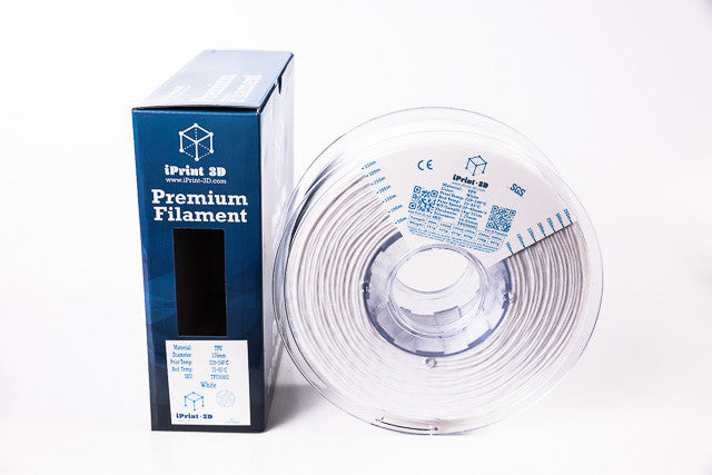 White TPU Flexible Premium 3D Filament