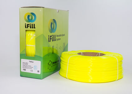 Yellow, iFill Premium PLA 3D Filament