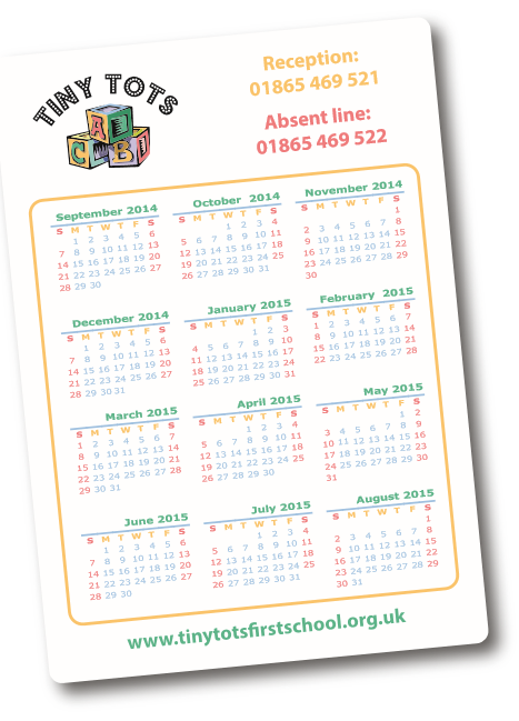 Calendar Fridge Magnet 105mm x 148mm
