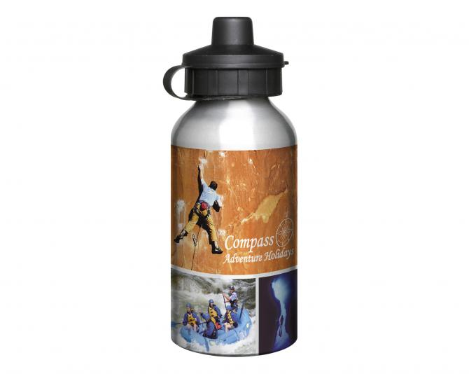 400ml Aluminium Silver Water Bottle