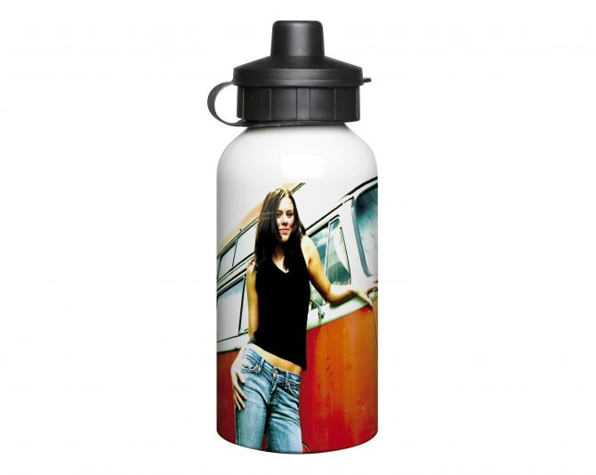 400ml Aluminium White Water Bottle
