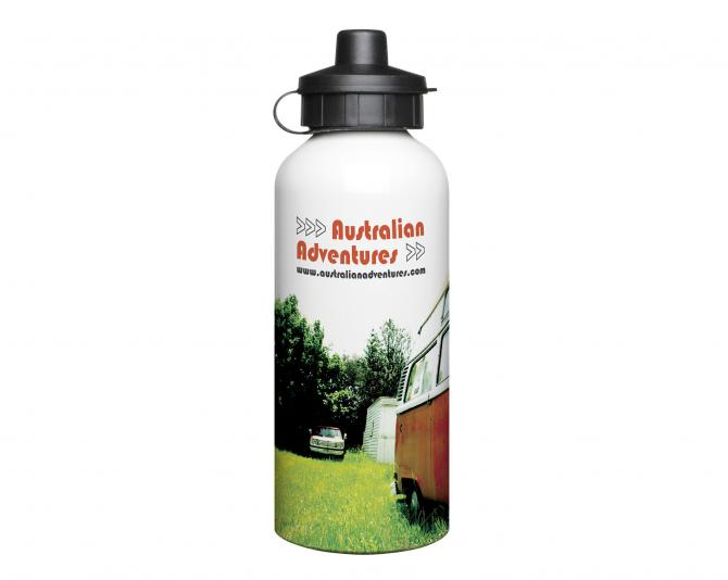 600ml Aluminium White Water Bottle