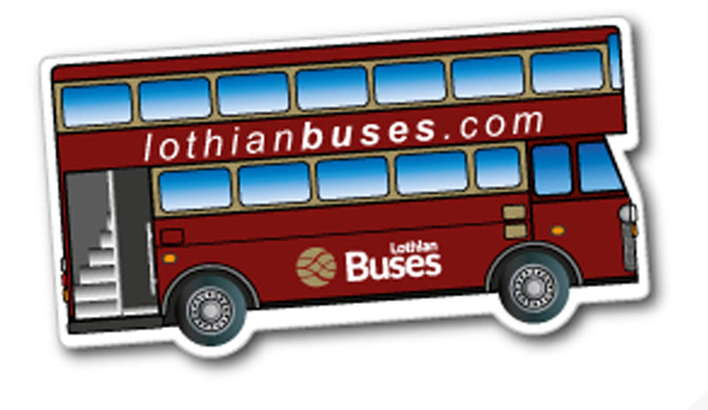 Double Decker Bus Fridge Magnet 46mm x 86mm