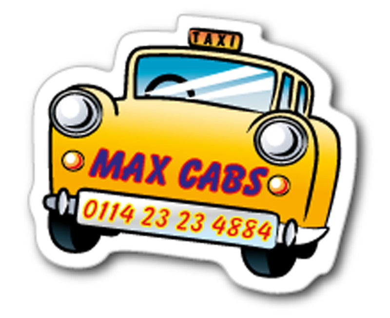 Yellow Cab Taxi Fridge Magnet