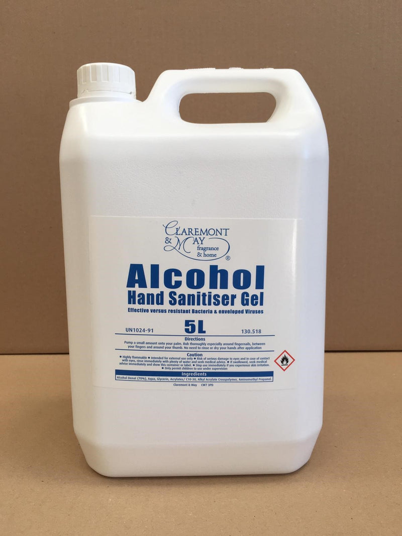 5 Litre Sanitiser Hand Gel - 70 % Alcohol PRICE DROP! (new stock!)